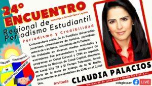 Claudia Palacios, una de las invitadas al Encuentro Regional de Periodismo Estudiantil - Noticias de Colombia